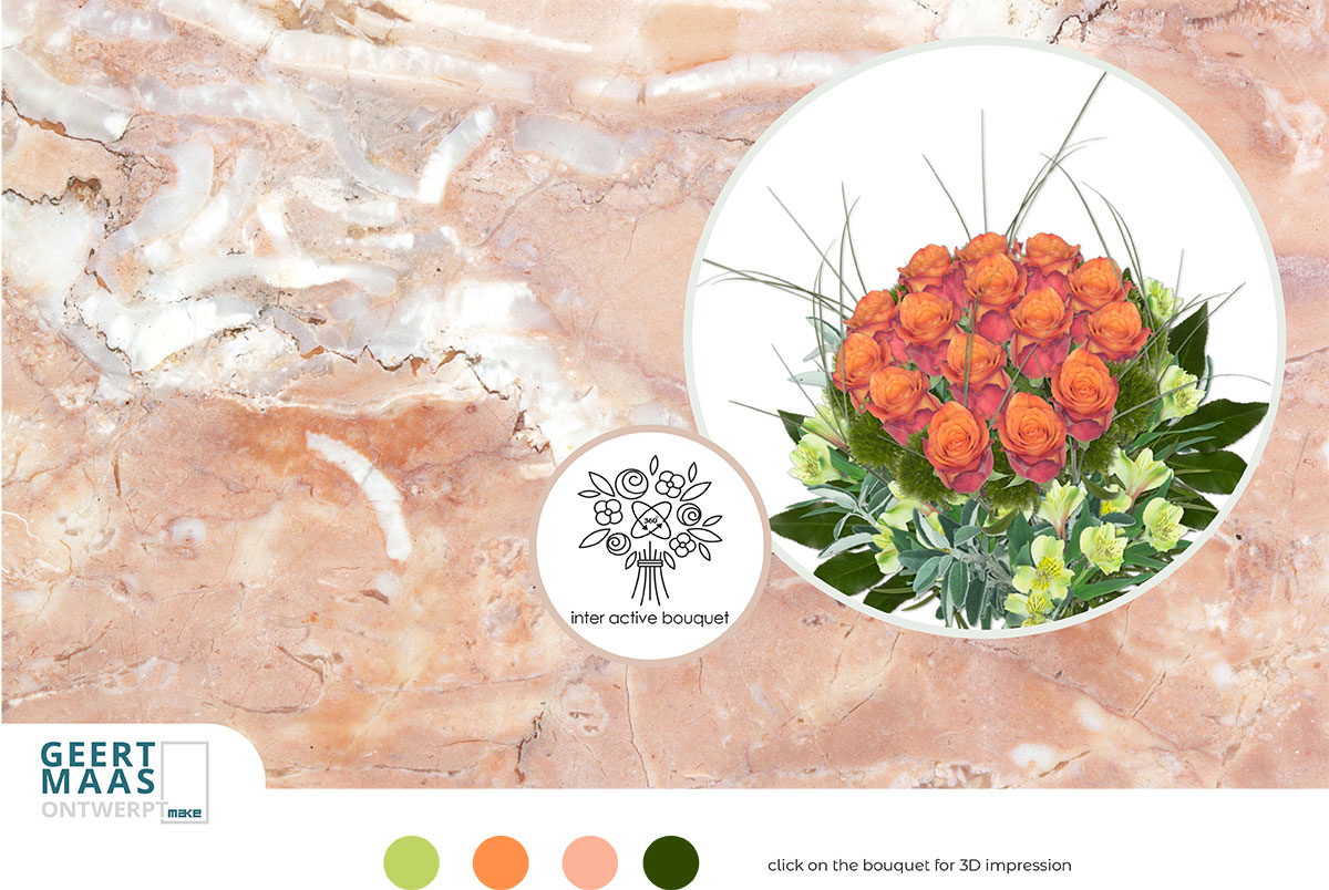interactive bouquets promotion card